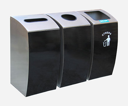 Acero inoxidable interior Max - hb29 Recycling Tri - One Recycling box, Adapting different Classification points for the Mall