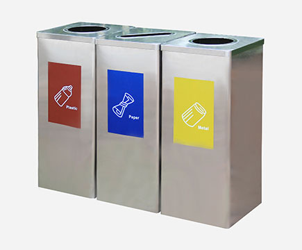 35 l acero inoxidable interior Max - sn283 Recycling The Independent Waste cubo, Office and Toilet with different Classification signatures
