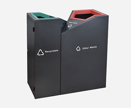 Max - sn69 Recycling Black Waste Recycling, with ceniceros, for Shopping Center Recycling Station